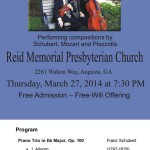 Trio d'Esprit at Reid Memorial Flyer and Program