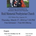 Trio d'Esprit at Reid Memorial Flyer and Program