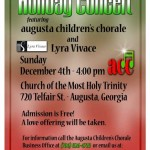 Lyra Vivace Holiday Concert w/Augusta Children's Chorale