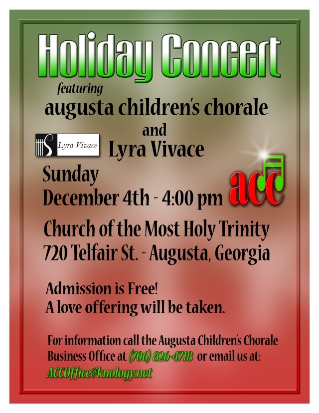 Lyra Vivace and Augusta Children's Chorale