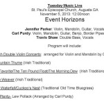 Event Horizons - Tuesday Music Live