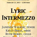 Lyric Intermezzo - Midday Concert February 2013