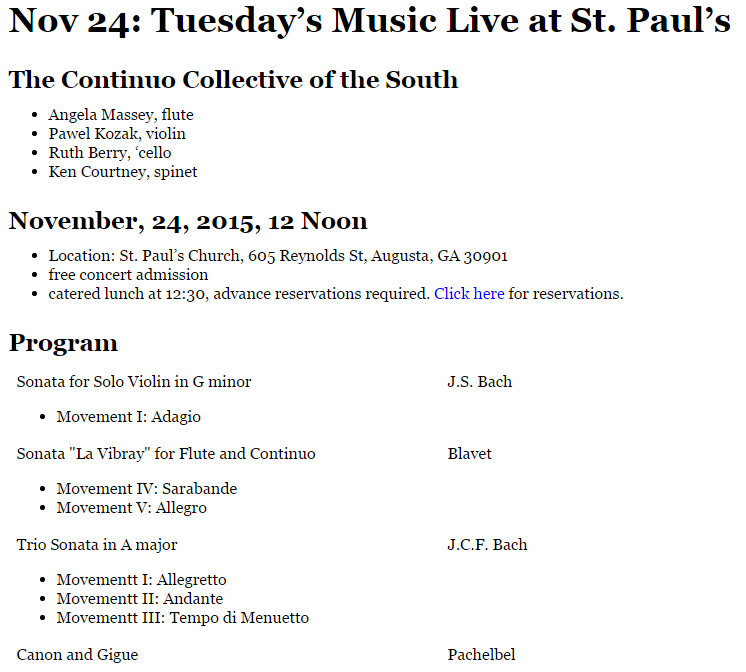 Tuesday's Music Live at St. Paul's