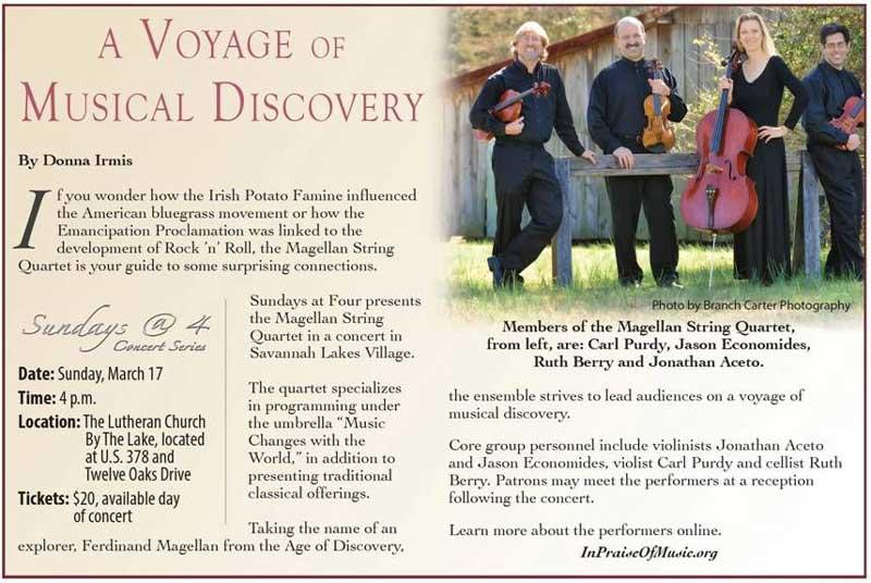 Magellan String Quartet Concert, 2013-03-17