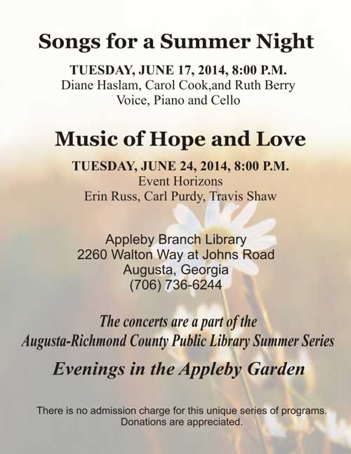 Songs for a Summer Night: Evenings in the Appleby Garden