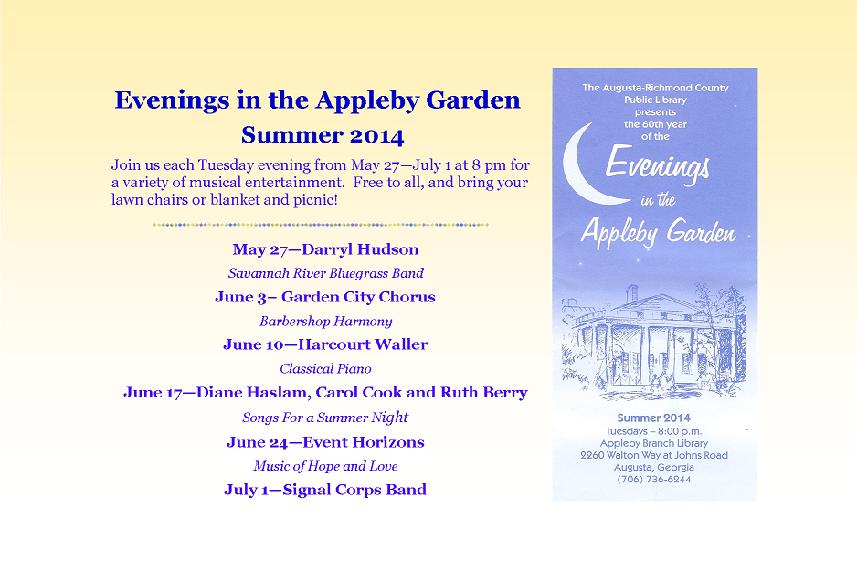 Evenings in the Appleby Garden