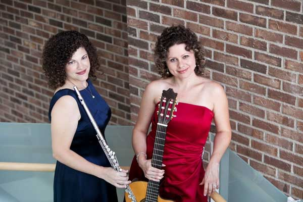 Teri Forscher-Milter (flute) and Marina Alexandra (guitar)