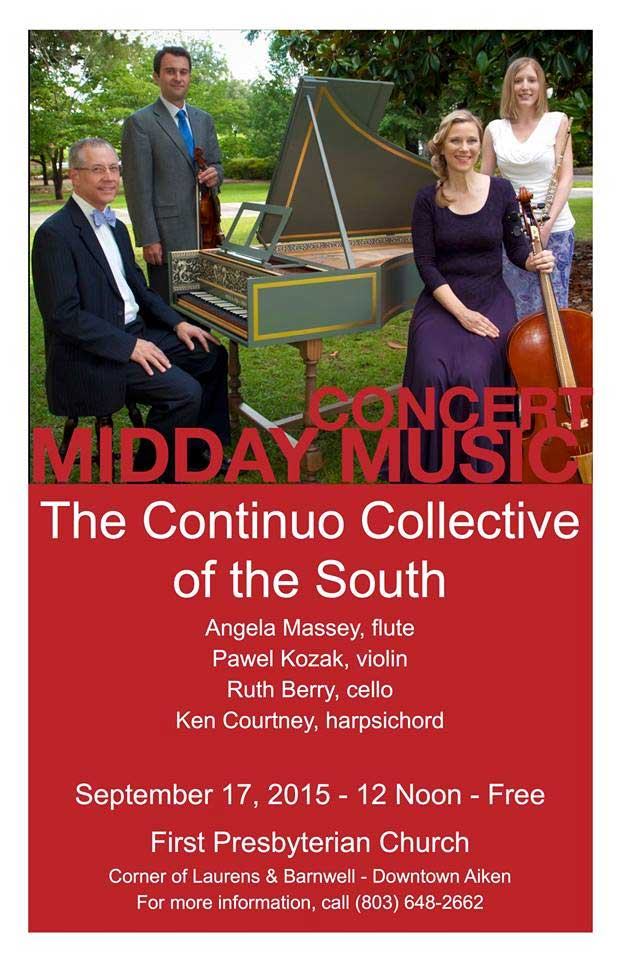 The Continuo Collective of the South: Midday Music Concert