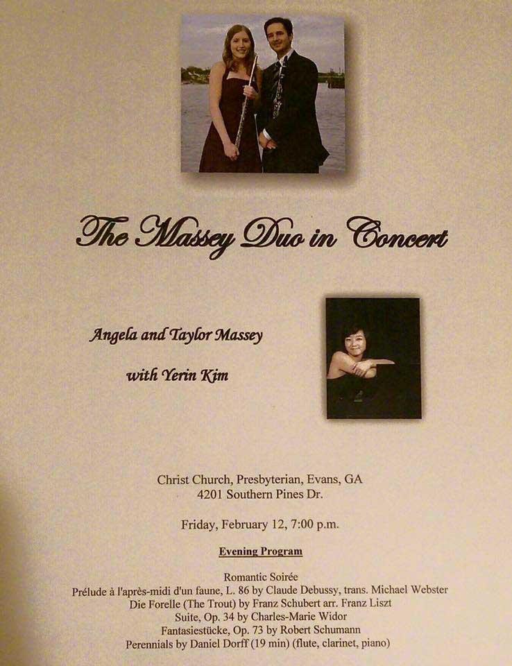 Massey Duo Valentine's Concert Tour